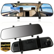 1080P HD 2.7 Inch LCD DVR Car Camera Dash Cam Digital  Video Recorder Rearview Mirror 5V 1A Auto Video