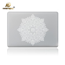 Mimiatrend White Leaves Removable Vinyl Decal Laptop Skin Sticker for Apple Macbook Air Pro Retina 11 13 15 Inch Laptop Skins(China)