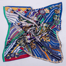 Super Fashion Print 100% Silk Twill Scarf Women Ladies Square Silk Scarves Wraps Shawl 90x90cm Spring Clothing Accessory