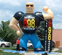Radio Inflatable Character Fitness man Muscle man for advertising(China)