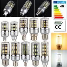 85-265V Full Watt Smart IC LED Corn Bulb 5736 SMD Lamp E14 E27 G9 GU10 B22 3W 5W 7W 9W 12W 15W LED No Flicker Light Bulbs(China)