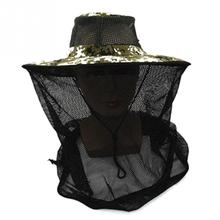Camouflage Mosquito net outdoor fishing hat Beekeeping Hat Flying Insects Prevention Cap Bucket Hat Bee bug mesh hat(China)