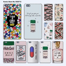 funny Chills Pills Chocolate Nutella hard transparent phone Cover Case for huawei P9 P8 Lite P9Plus P7 Mate 9 Mate S 8 7