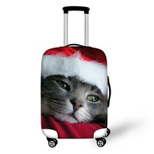 FORUDESIGNS Christmas Pattern Print Luggage Covers for Girls,Elastic Polyester Travel Luggage Cover for Lady,3D Luggage Cover