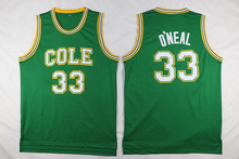 Shaquille O'Neal #33 Shaq Oneal Robert G. Cole Retro Throwback Stitched Basketball Jersey Sewn Embroidery Camisa(China)