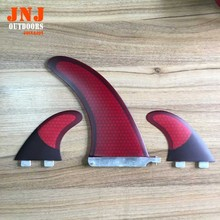 "Free shipping FCS sup paddle board fins 9"" centre fin and carbon fcs G5 M side fins 1set(China)"