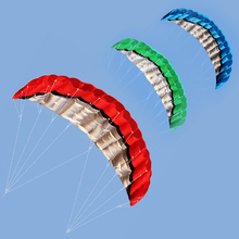 2.5m Parafoil Kite Outdoor Sports Power Soft Kite Dual Line Stunt Parachute Beach Kites with Handle Line free shipping(China)