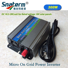 Free shipping!!300Watts Grid Tie Inverter MPPT Function 10.5-28VDC input 230VAC Micro Grid Tie Pure Sine Wave Power Inverter