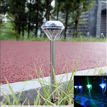 4pcs/lot Waterproof Outdoor led Solar Power Lawn light Lamps LED Spot Light Garden Path Solar Landscape Stake Lights Luminaria