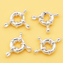 Wholesale 10pcs,11mm Silver Plated Steering Wheel Shape Clasps ,Min. Order is $10,we provide mixed wholesale for all items !(China)