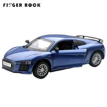 Finger Rock Mini 1:32 R8 Collectible Diecast Metal Car Model Electric Pull Back Alloy Vehicle Home Decor Toys Gift Brinquedos