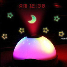 The alarm clock time and projection clock dream colorful hemisphere projection clock at the end of the year special offer