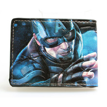"Captain America Steve Rogers James Buchanan Barnes ""Bucky"" Young students wallet purse animated cartoon wallet DFT-1007(China)"