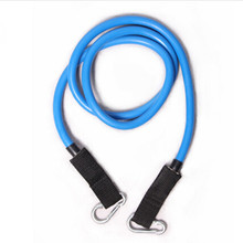 free shipping blue elastic stretch exercise trainning tube metal pull rope for yoga pilates workout resistance bands