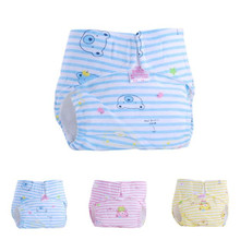 Waterproof Baby Pants 1PC Cute Baby Cotton Training Pants Reusable Infants Nappies Diapers Breathable baby Cloth Diapers(China)
