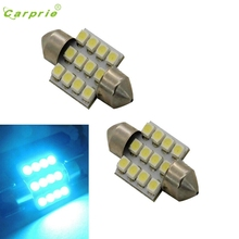 CARPRIE Top Quality Car Light  2pcs Aqua Blue 31mm 12-SMD DE3175 DE3022 LED Bulbs For Car Interior light White/Amber  #1220