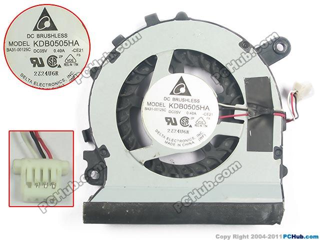 Delta KDB0505HA CE21 Server Laptop Fan DC 5V 0.40A 3-wire<br>