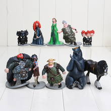10pcs/lot Brave Toy PVC Action Figures doll/Merida/Black Bear/Collections/Children gifts