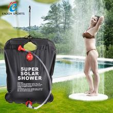 10L 2.5 Gallon Solar Energy Heated Camp Shower Bag PVC Water Bag Outdoor Camping Travel Hiking Climbing BBQ Picnic Water Storage(China)