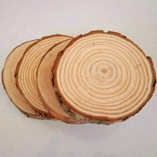 30pcs/lot Plain Wood Wooden Hearts Embellishment Blank Heart Wood Slices Discs Natural Wood Color Birch Tree DIY Crafts