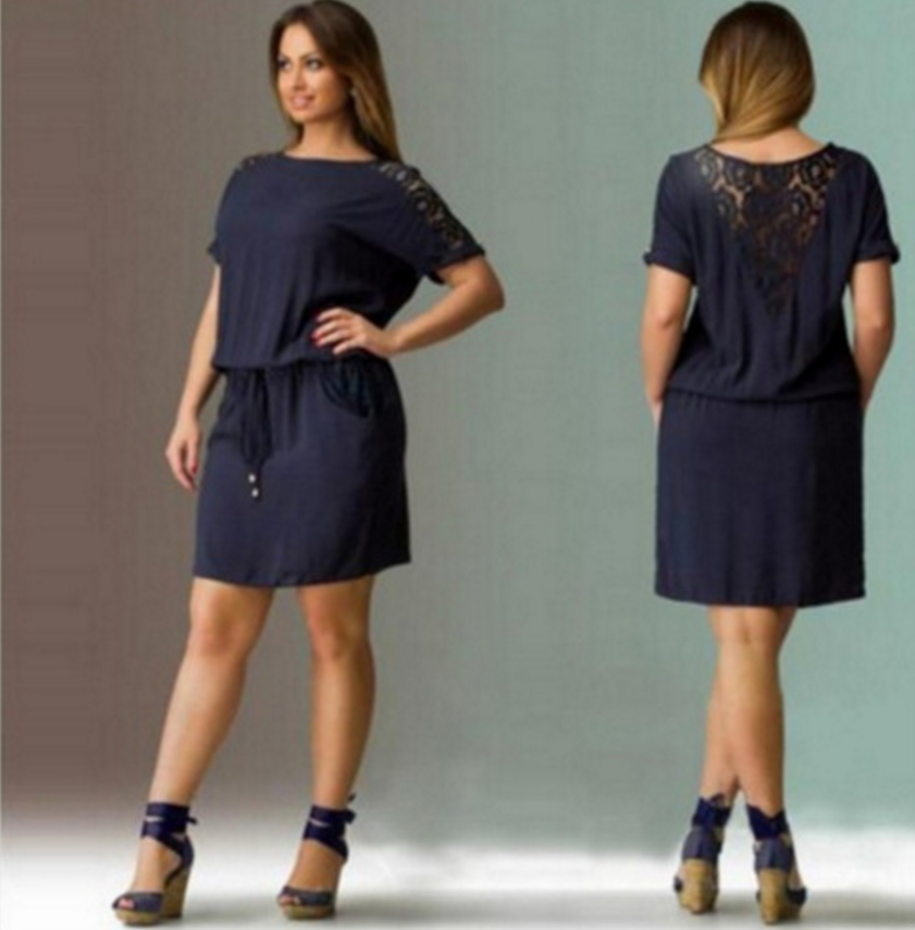 2018 Summer Women Dress Floral Printed Straight Dress Plus Size Women Clothing 5XL Big Size Black Dress 9