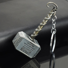 Marvel Comics Hero The Avengers Big Size Thor Hammer Mjolnir KeyRings Keychains Purse Bag Buckle Gift key chains holder K101