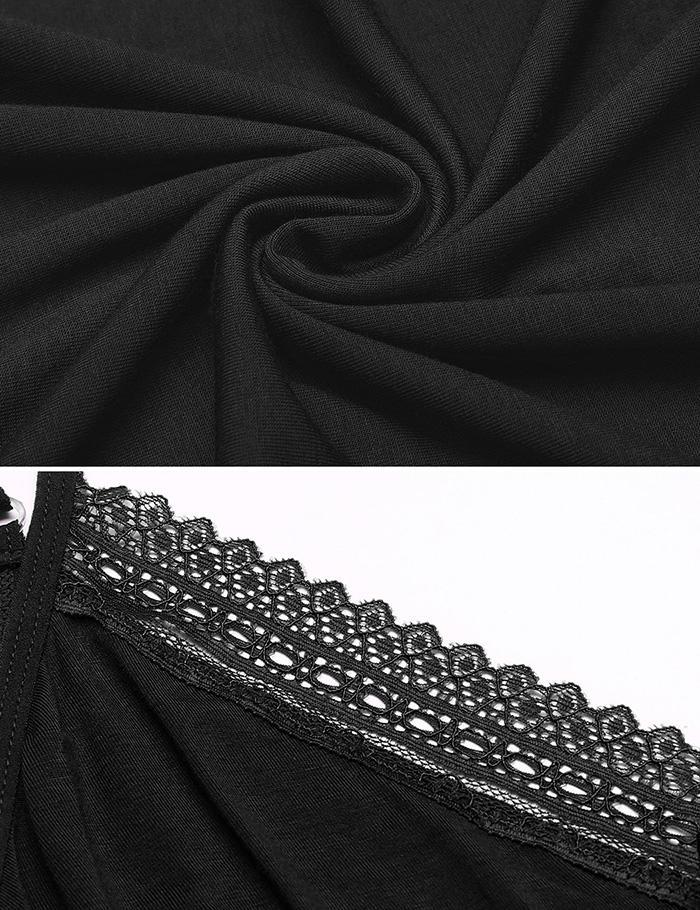 Avidlove Sexy Cotton Sleeveless Strap Nightgown For Women 10