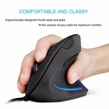 Shark-shaped Unique 1000DPI 2.4GHz USB Wired Vertical Grip Ergonomic Optical Mouse with 6 Buttons(China)