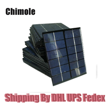 100pcs/lot Top Quality 2W 6V Solar panels solar glue plate kits 2W solar celles DIY solar charger kits136*110mm