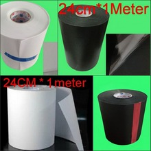 Heat Transfer Paper Hotfix Foil Film Hot Fix Rhinestone Mylar Tape 24cm width Iron On PVC plastic(China)