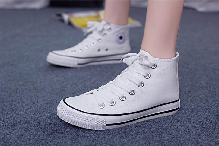 Basic high quality fashion casual shoes High-top canvas shoes flat with female Women canvas shoes<br><br>Aliexpress