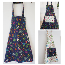 Lovely Women Kitchen Cooking Apron Funny Sweet Aprons White/ Navy Blue Retro Apron Party Bibs With Pocket Wholesale