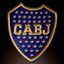 Boca Juniors Logo Soccer Patch Argentina Futbol Embroidered sew on ipatches iron on football applique and badges