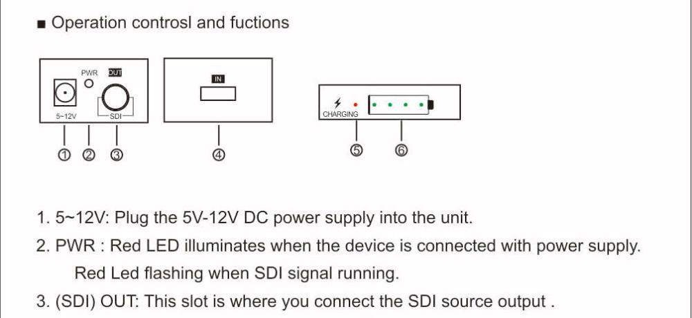 HSV191Bat HDMI to SDI Converter with Battery Charging 1080p Mini HDMI to SD-SDI HD-SDI 3G-SDI Adapter Converter (18)