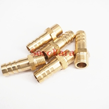 LOT 5 Hose Barb I/D 10mm x M12x1.25 Metric Male Thread Brass coupler Splicer Connector fitting for Fuel Gas Water