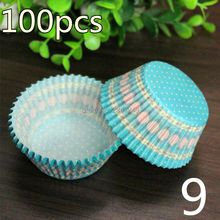100/50 pcs cupcake liner baking cup cupcake paper muffin cases Cake box Cup tray cake mold decorating tools(China)