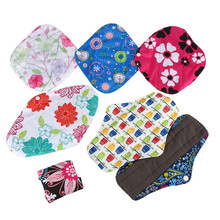 1PCS Bamboo Cotton Washable Reusable Menstrual Cloth Sanitary Pads Napkin Waterproof Panty Liners Women Feminine Hygiene(China)