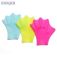 ENNJOI Unisex Swimming Fins Paired Paddles Diving Fins Webbed Training Pool Diving Hand Gloves Swimming Fins for Adult Children(China)