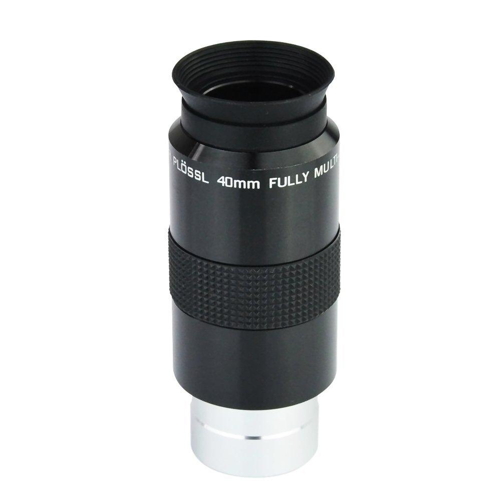 Telescope 1.25 Super Plossl Eyepiece 40mm (SPL Plossl Eyepiece) - 52 Degree FOV and 4-Element Design<br>