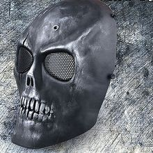 Carbon Steel Full Face Skull Skeleton CS Mask Tactical Military War Game Halloween Airsoft Paintball masked ball fancy dress b(China)