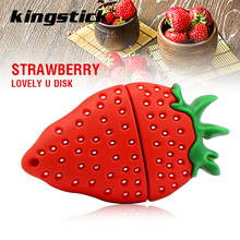 Free shipping 128gb cute Strawberry usb 2.0 usb flash drive 8gb 16gb 32gb 64gb pen drive memory stick pendrive u disk high speed(China)