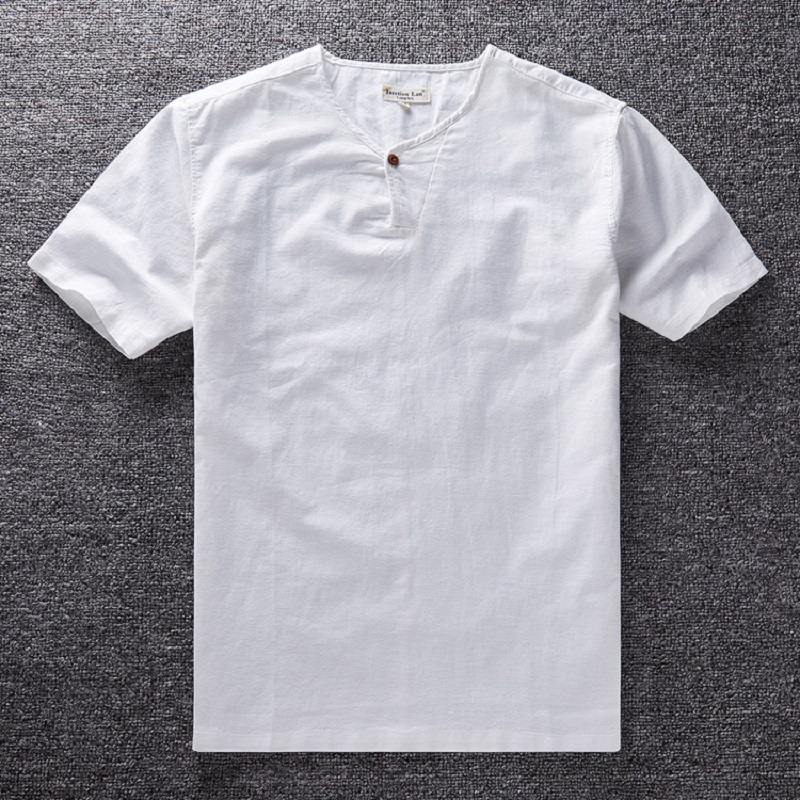 White Collarless Shirt Mens Promotion-Shop for Promotional White ...