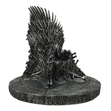 Game of Thrones action figure Toys Sword Chair Model Toy Song of Ice and Fire The Iron Throne Desk Chirstmas Birthday Gift 17cm