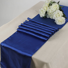 "Wholesale/Free shipping 10PCS Royal Blue Satin Table Runners 12"" x 108"" Wedding Party Decorations(China)"