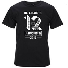 2017 real XII Champions League Winners 12 la Duodecima T shirt Short Sleeve T-Shirt Man for hala madrid ronaldo fans gift S17