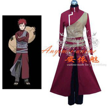 Free Shipping Naruto Gaara Outfit Jacket Coat Cosplay Costume Tailor-made