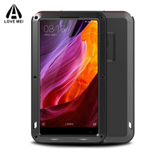 Full Body Protective Xiaomi Mi Mix Case +Gorilla Glass Metal Aluminum Armor Shockproof Heavy Duty Case For Xiaomi Mi Mix Cover(China)
