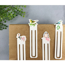 30 pcs Various bird bookmark Paper clip bookmarks for book marker Stationery items Office  School supplies marcalibros 6676