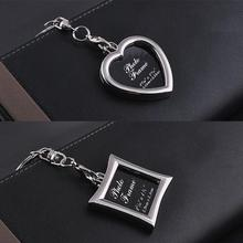 1 Piece Key Chains Transparent Clear Insert Photo Picture Frame Key Ring Chain Keychain