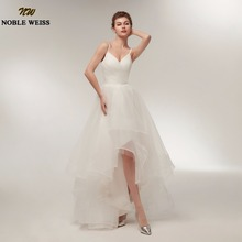 Buy High Low Beach Wedding Dresses 2018 Spaghetti Straps Wedding Gowns Cheap Real Photo Vestido De Noiva White Ivory Bride Dress for $66.59 in AliExpress store